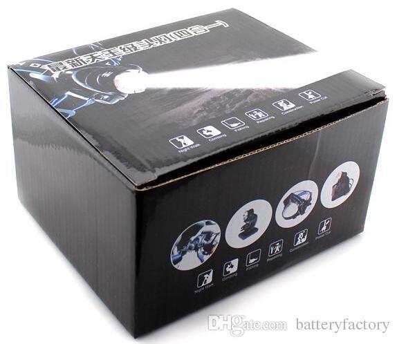 Top Quality 2000 Lumen Faro CREE XM-L T6 LED Faro 18650 Lampada frontale Torcia LED Torcia Luce frontale V9 T6 + Spedizione gratuita