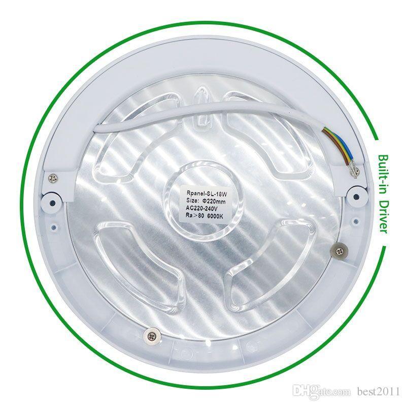 Luz del panel de 18W LED Luces de techo Led sensor Downlight Cuerpo humano Detector infrarrojo Interruptor de movimiento Flush Mount Light