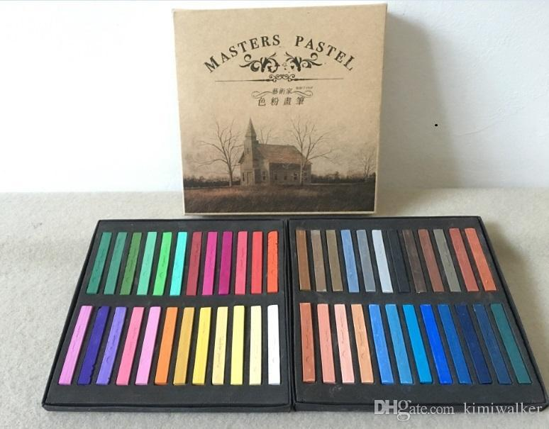 Marie's Watercolor Painting Crayons Chalk Water Color Paint Soft Pastel Art Drawing Set Stationery for Student