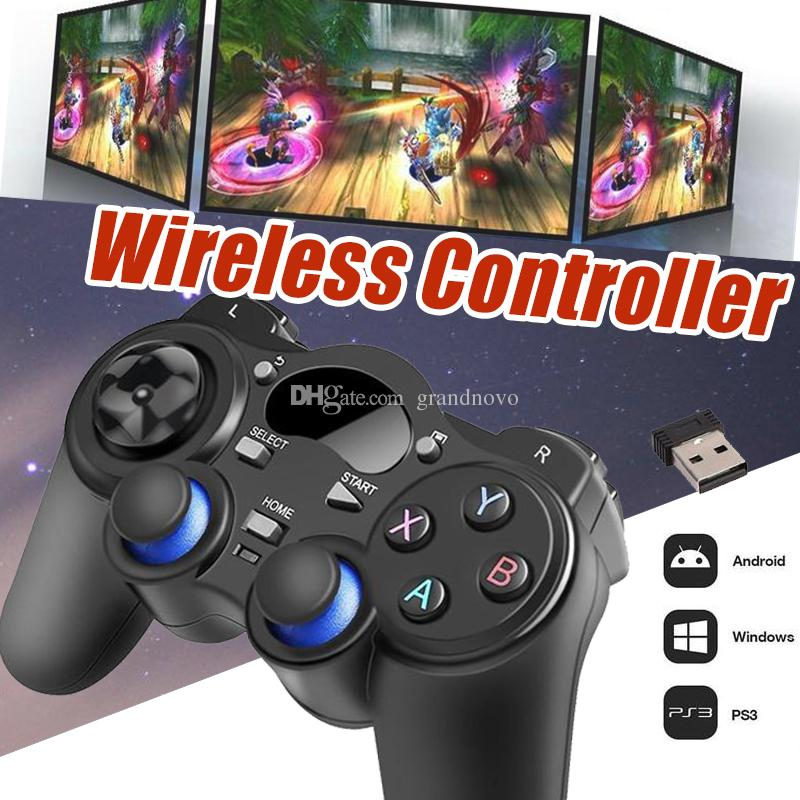 Universal 2 4G Wireless Game Controller Gamepad Joystick Mini keyboard  Remoter For Android TV Box Tablets PC Windows 8/7/XP With Retail Box