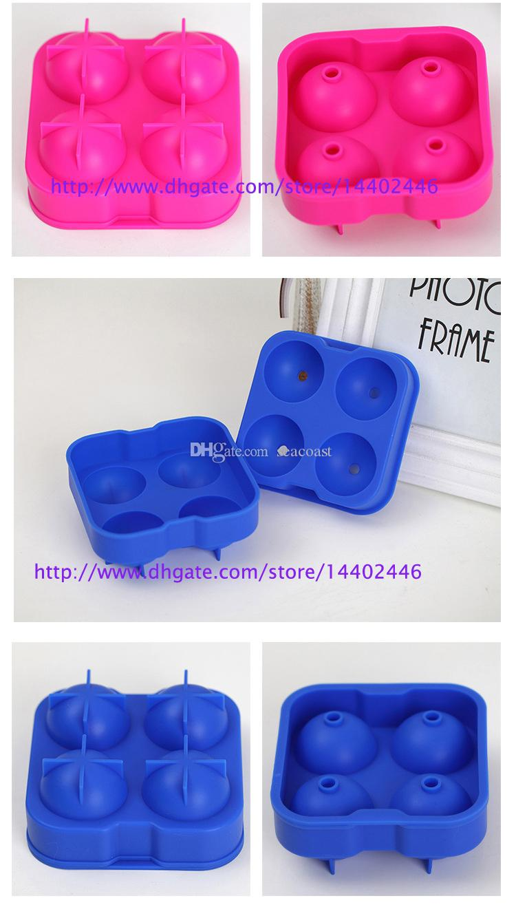 Ice Cube Ball Drinking Wine Tray Brick Round Maker Mold Sphere Mould Party Bar Silicone