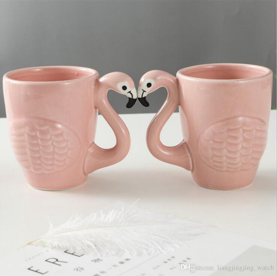 Tasse Fantaisie acheter flamants céramique tasse rose fantaisie 3d ins flamants