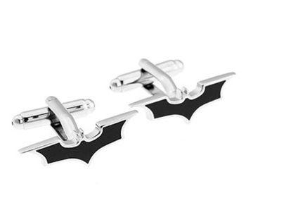 Alta Calidad Metal Negro Batman Gemelos Para Hombres camisa Gemelos Francés Día de Padres Regalos Para Hombres Joyería Gemelos Envío Gratis W144