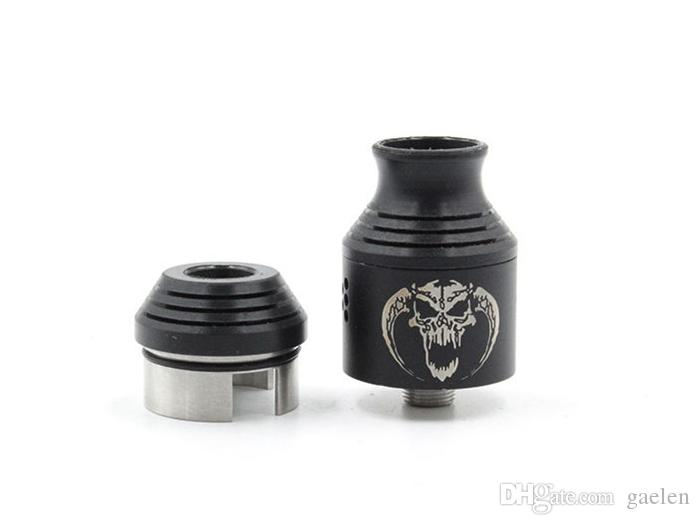 Cheap Baal V2 RDA Atomizers Rebuildable ecigs atomizer 510 Wide Bore Drip Tip 3mm Post Holes Airflow Control PEEK Insulator