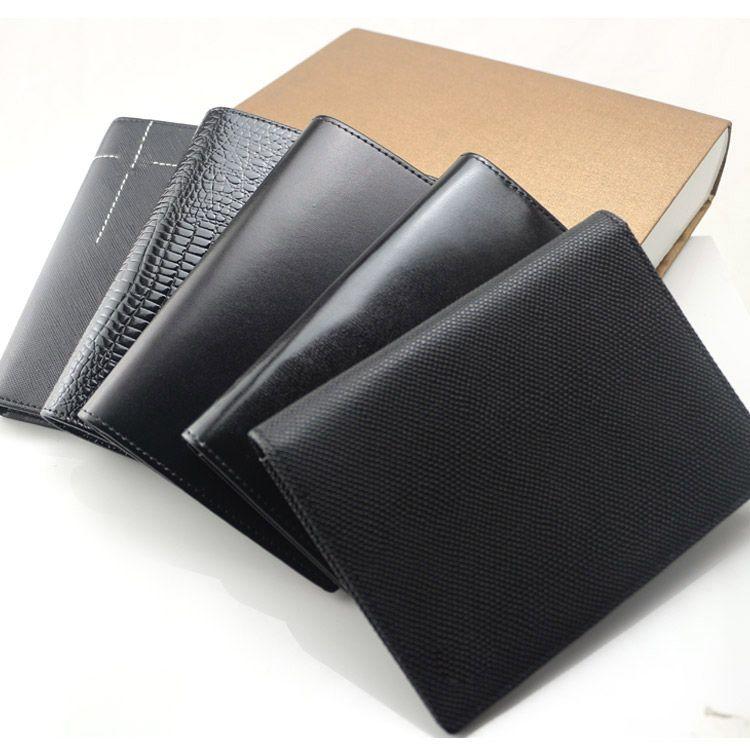 2018 Luxury Men Business Black Passport Wallets Card Holders Holder ...