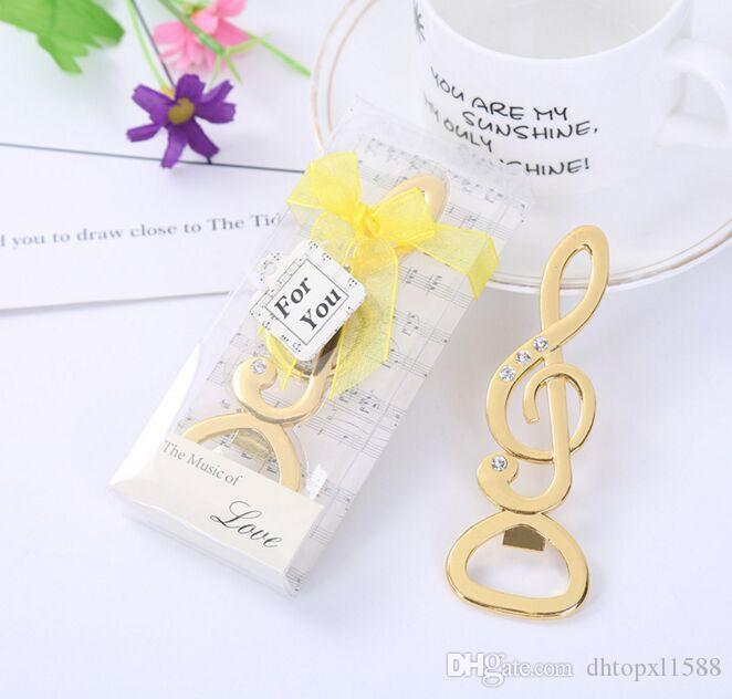 new the music of love symphony musical note bottle opener with diamond wedding favors bridal shower party gifts glass wedding favors ideas for bridal shower
