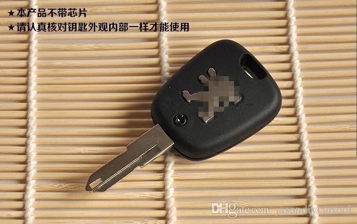 Funda de mando a distancia de 2 botones Fob Shell para Peugeot 206 con LOGO