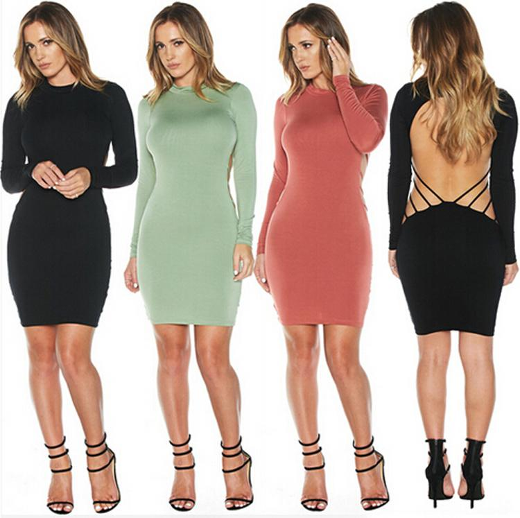 Compre Scolour Moda Para Mujer Negro Halter Wrapp Dresses Club Mini ...