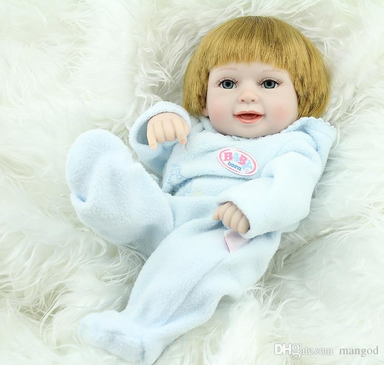 Reborn baby doll eu standards vinyl realistic smile newborn twins babies doll toy one set