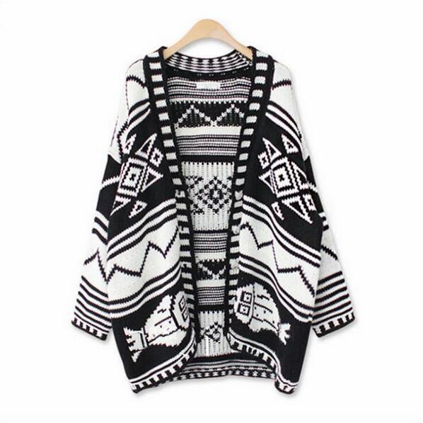 Wholesale- Geometry Vintage Cardigan Sweater Ladies Cardigan ...