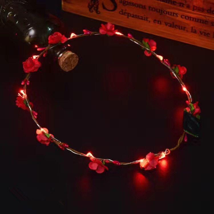 Hot LED-Blitz Hawaiian leis Partei Liefert Girlande Halskette Bunte Girlande Phantasie Kleid Party Hawaii Dekorative Blumen IB547