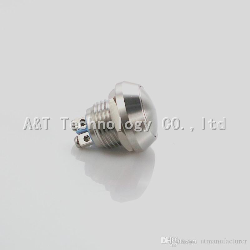 Fast delivery small volume 12 mm automotive stainless steel waterproof anti vandal push button momentary micro switch IP67