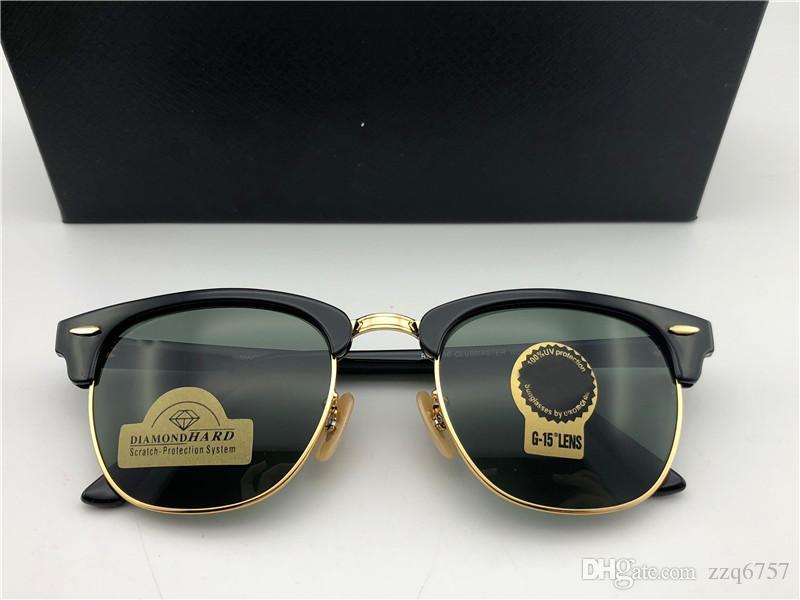 Fashion Designer Sunglasses Half Frame Square Frame Classic Retro Style Outdoor Glasses UV400 Diamond Lens Top Quality