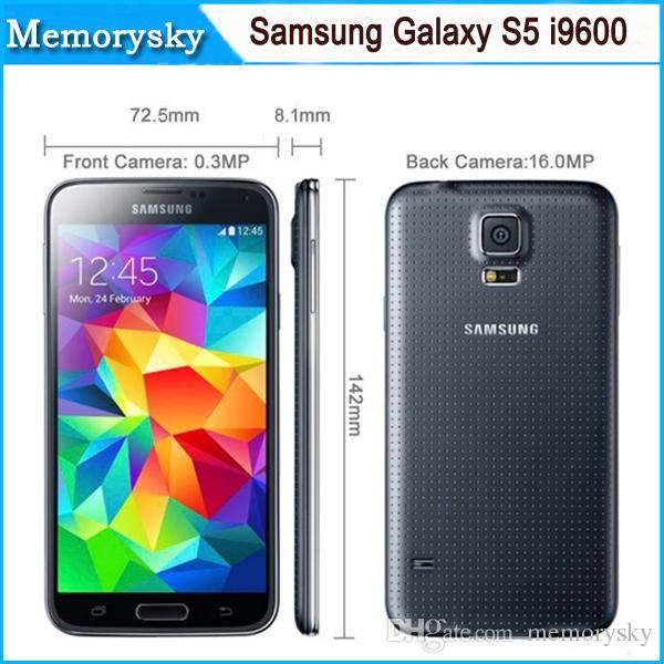 Unlocked Samsung Galaxy S5 i9600 4GLTE WCDMA 2GB RAM 16GB ROM G900F G900A  G900T 16MP Camera Quad Core 5 1 Inch Refurbished Phone Original