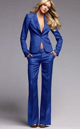 New Fashion Royal Blue Women Tuxedos Suits For Women 2015 Peaked ...