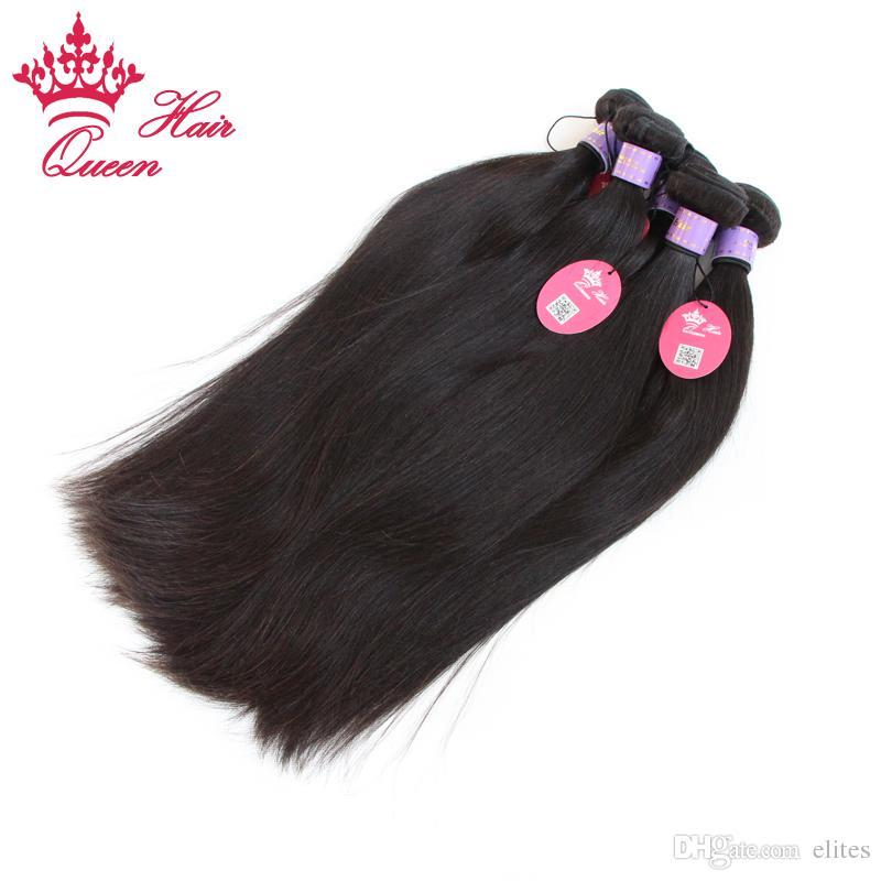 """Queen Hair Products Malaysian Virgin Hair Straight Virgin Human Hair Extension 8""""-30"""" DHL Free"""