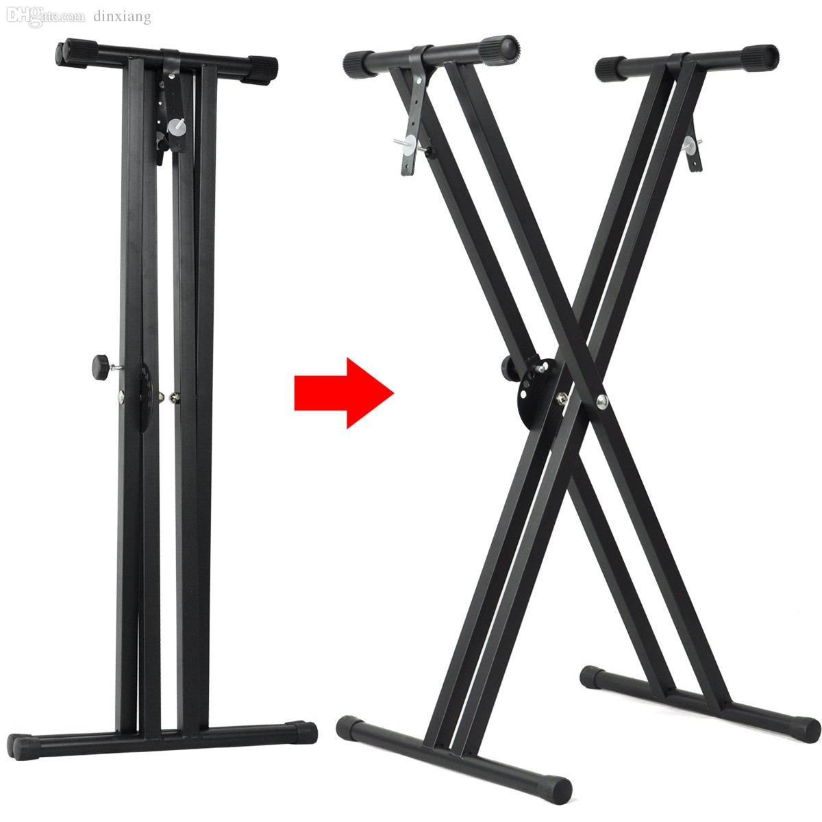 2018 Wholesale Special Sale!folding Double X Frame Keyboard Stand ...