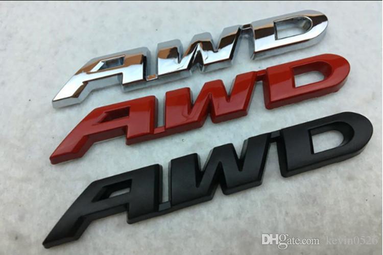 New Metal CRV AWD emblème galvanisé lettre voiture Posté autocollants de voiture personnalisés 3D