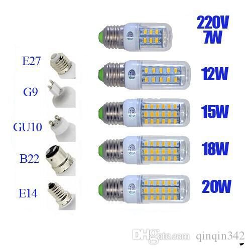 DHL High quality ultra bright Led bulb E27 E14 B22 G9 110V-240V SMD 5730 chip 360beam angle led corn light lamp lighting X100