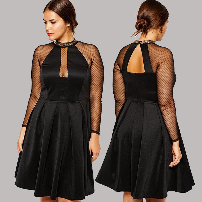 2018 Wholesale Suit Vestidos Femininos Skater Dress With Chain Trim