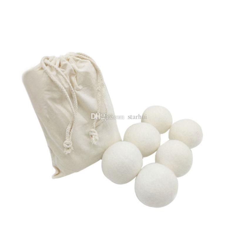 Neue Wolltrockner-Bälle reduzieren Falten wiederverwendbarer natürlicher Weichspüler antistatisch große gefilzte Bio-Wolle Wäschetrockner-Ball