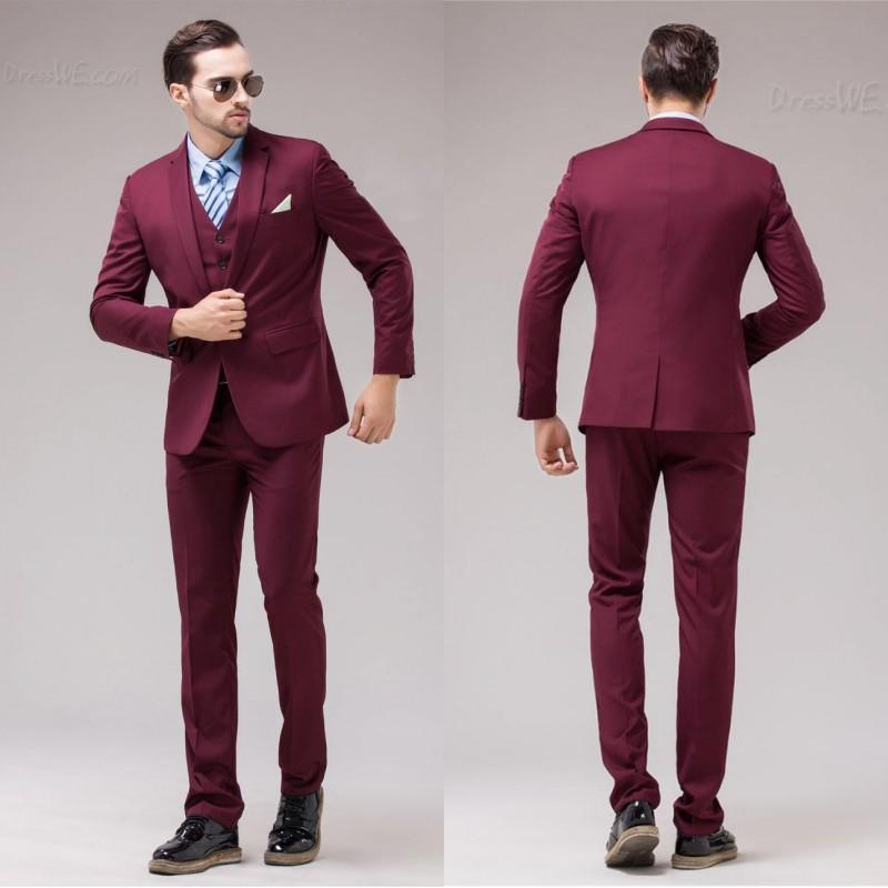 2015 Customized Burgundy Wedding Suits Design For Men Wedding ...