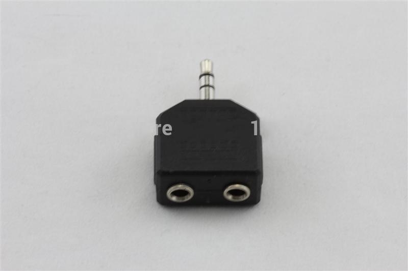 Adapter audio Split w dwóch kablu audio 3.5mm Connect Headset Line Audio 3.5mm Mężczyzna do żeński Drut audio 3,5 mm Mężczyzna do 2 * 3,5 mm Kobieta