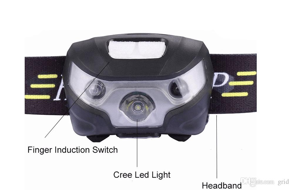 Wholesale USB LED Bike Bicycle Light Finger Induction Headlight 3000LM Waterproof Double-switch Rechargeable Headlamp 3 Modes Zoomable