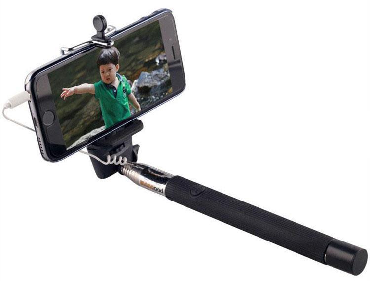 Z07-5S Uzatılabilir El Monopod Ses kablosu kablolu Selfie Sopa IOS Android akıllı telefon için fotoğraf çekmek