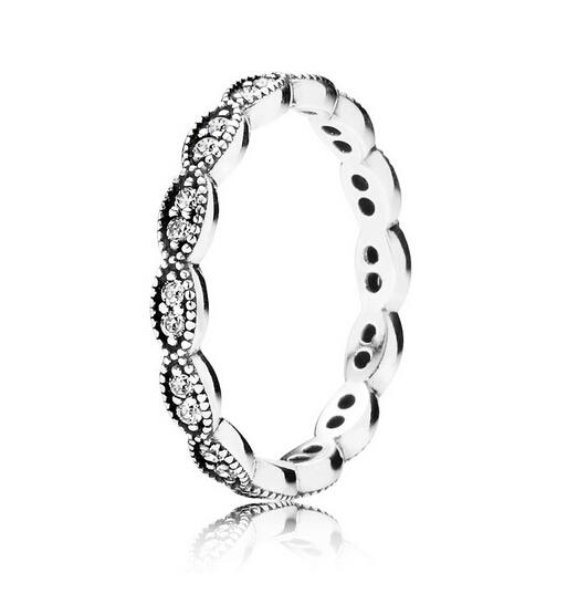 Ny 100% 925 Sterling Silver Leaves Ring med Cubic Zirconia Fashion Smycken Charms Ring Entwined Ring