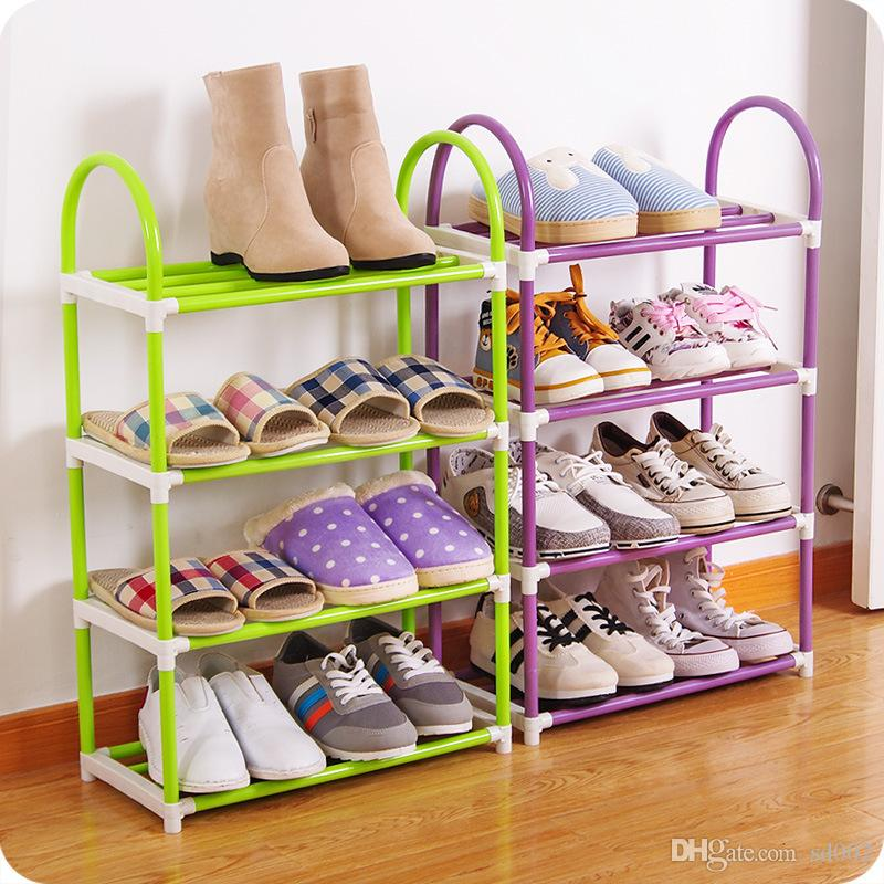 Space Saving Shoes Storage Holder 4 Layers Plastic Shoe Rack Easy To Move  Thicken Organizer Practical 6 52oc CB