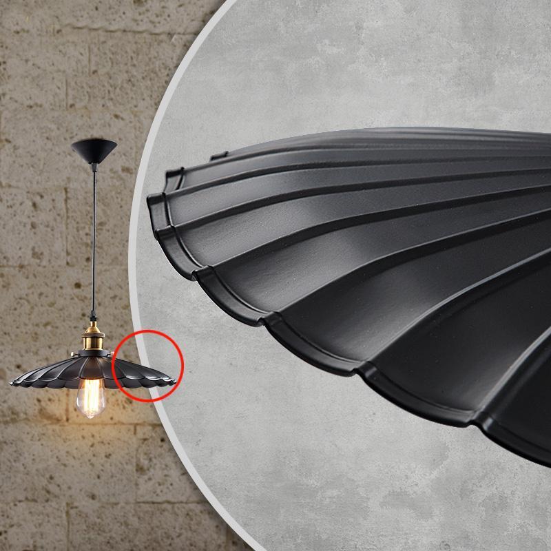 Lâmpada pingente Retro Industrial Preto Industrial Ferro Pingente Lâmpadas 110 V 220 V Lâmpadas de Halogênio LEVOU Pingente de Ajuste para o Centro Comercial E27 1 M Comprimento Do Cabo ty-008