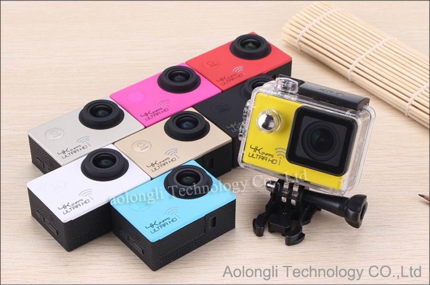 HD 4K 24fps камера SJ8000 WiFi спортивная камера действий Novatek NT96660 16MP 2.0 LCD водонепроницаемый шлем действия камеры 1080P / 60fps видео автомобильный видеорегистратор