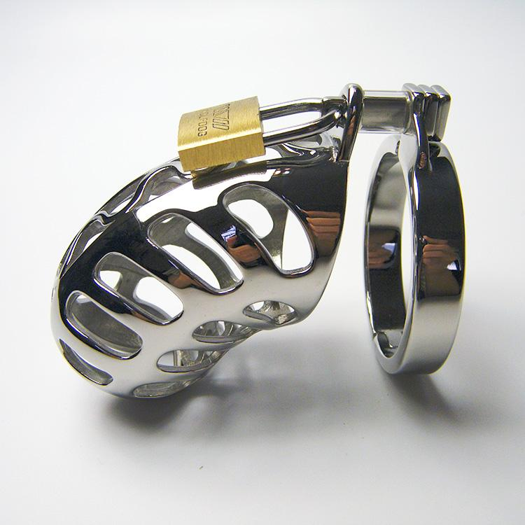 Metal chastity penis lock stainless steel male chastity device high quality of male sexy toys 2018 hot selling