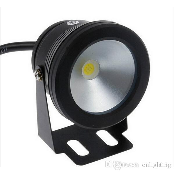 Sous l'eau Led Warm White Light 1000LM Étanche IP68 10W 12v fontaine piscine corps de la lampe Noir livraison gratuite