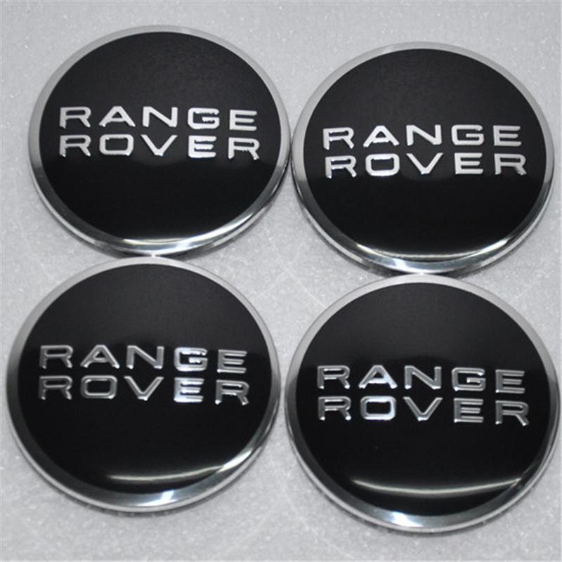 4xschwarz günstige auto radabdeckungen für land rover auto radmitte radkappen schwarz abs chrom auto radkappen für range rover 63mm