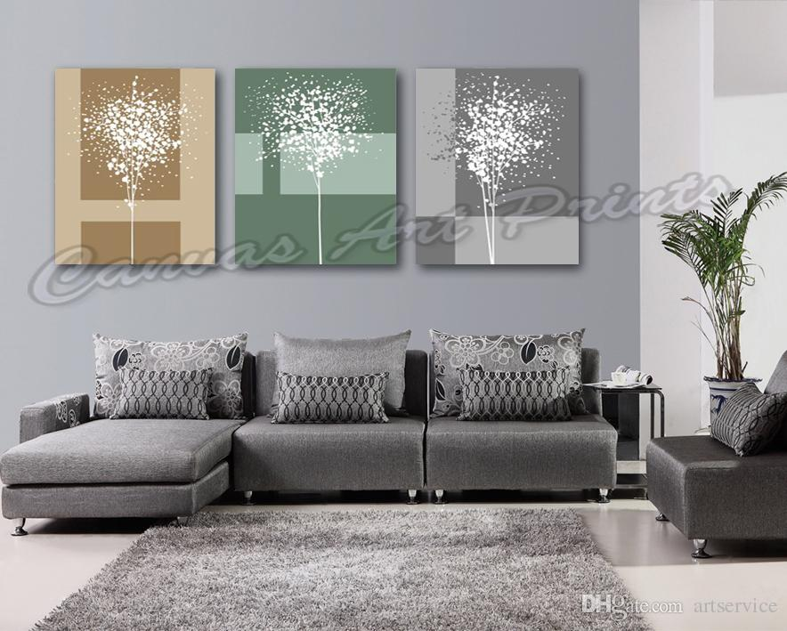 Custom Home Decor Art Painting Framed Abstract Trees Digital Printing Picture on Canvas Home Decoration Pieces Canvas Prints Panel