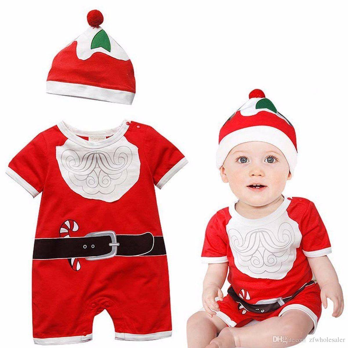 Christmas Baby Pajamas Newborn Romper Overall Infant Toddler Outfit Red Clothing Unisex New Year Clothes Kid Cotton Jumpsuit