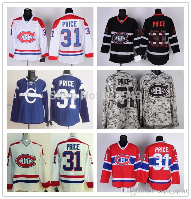 6fa9a6dac ... 2017 Mens Montreal Canadiens 31 Carey Price 100% Stitched Best Quality  Hot White Red Camo ...