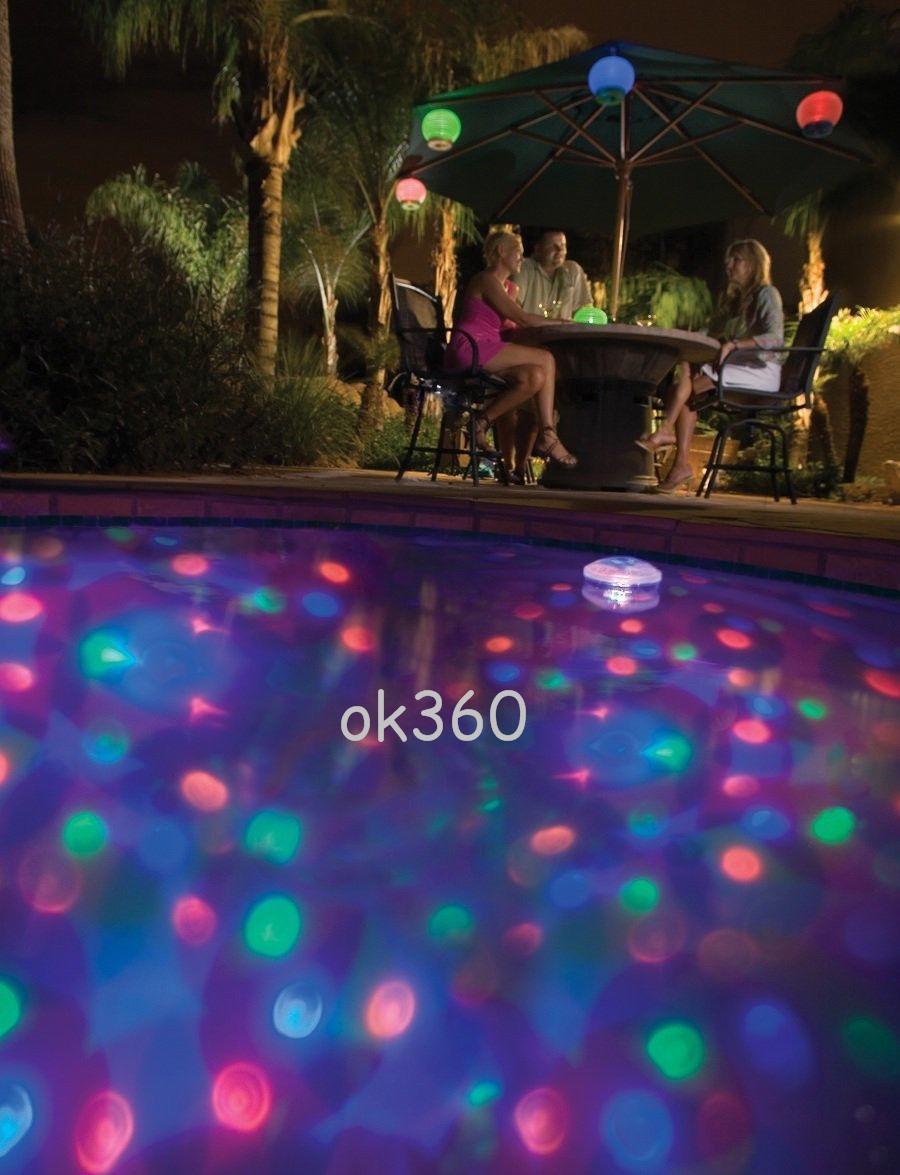 Nuevo Underwater LED Light Disco Modo de iluminación Glow Show Garden Pond Bañera de hidromasaje Piscina Luces de colores Luces de agua