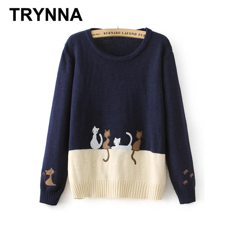 Wholesale- Women Pullover Sweaters Short Style Black And White ...