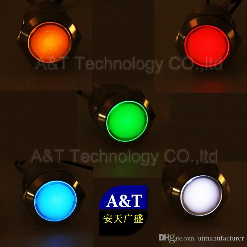 맞춤형 22mm 금속 방수 IP67 보트 비행기 자동차 오일 레벨 배터리 ABS ESP 차량 조향 표시등 표시 등 스위치 표시 등