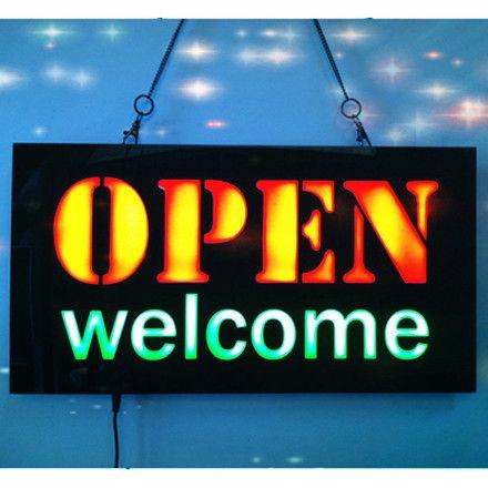 Compre Al Por Mayor Nuevo Open Welcome Led De Neón Signo Whiteboard