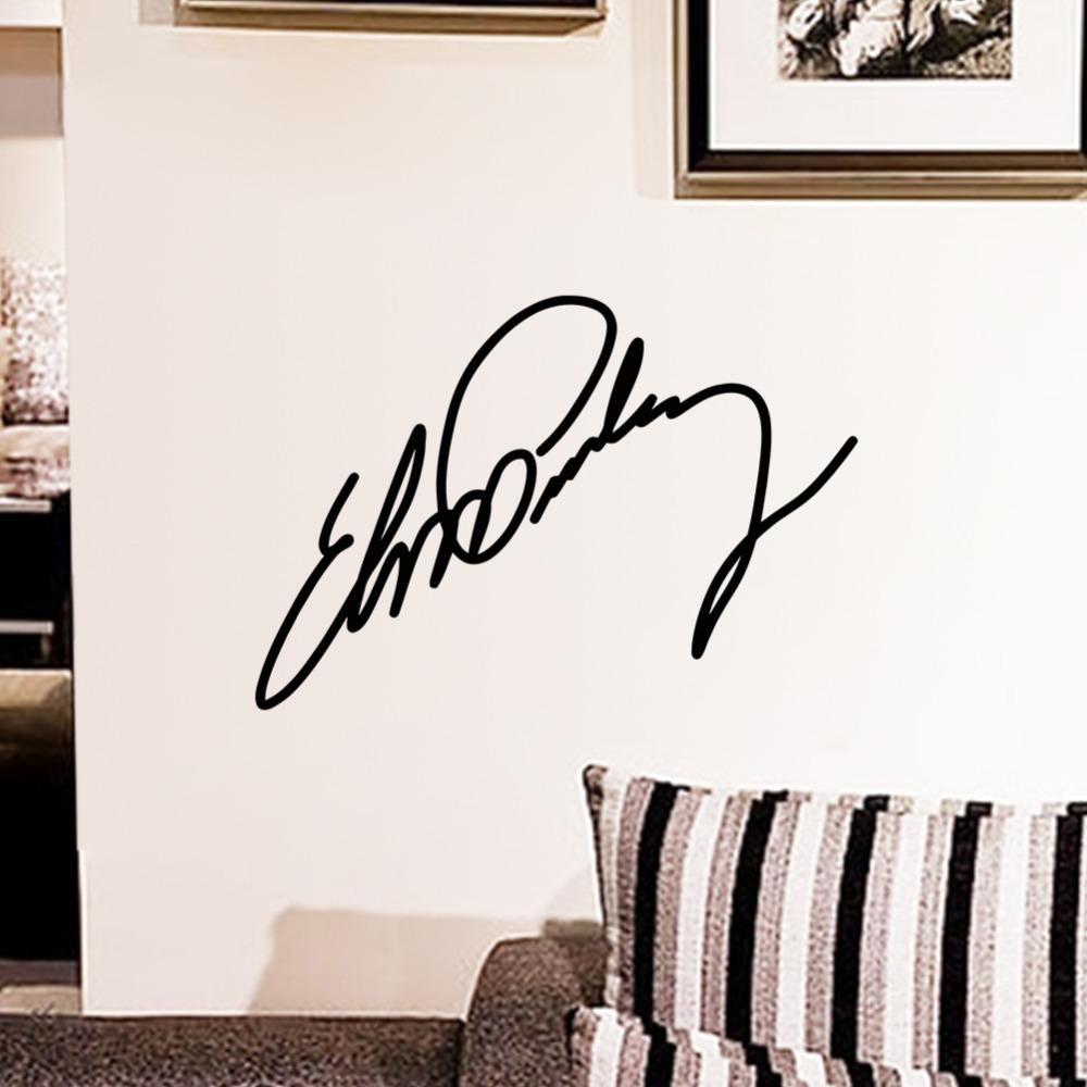 elvis presley small sign signature home decor vinyl wall sticker 27