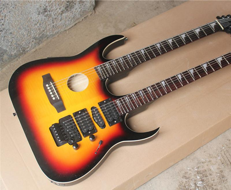 The Wholesale Hot Sale Customized Two Neck Guitar With A 6