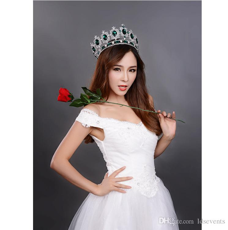 Beautiful Shiny Tiaras And Crowns Golden Quinceanera King Pageant Princess Bride Queen Girls Party Wedding Hair Accessories