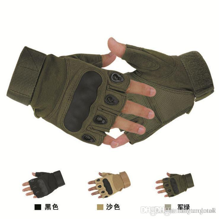 Outdoor Sports Men Women Fingerless Half Finger Military Tactical Gloves Hunting Cycling Motorcycle Slip Resistant Style2 A3