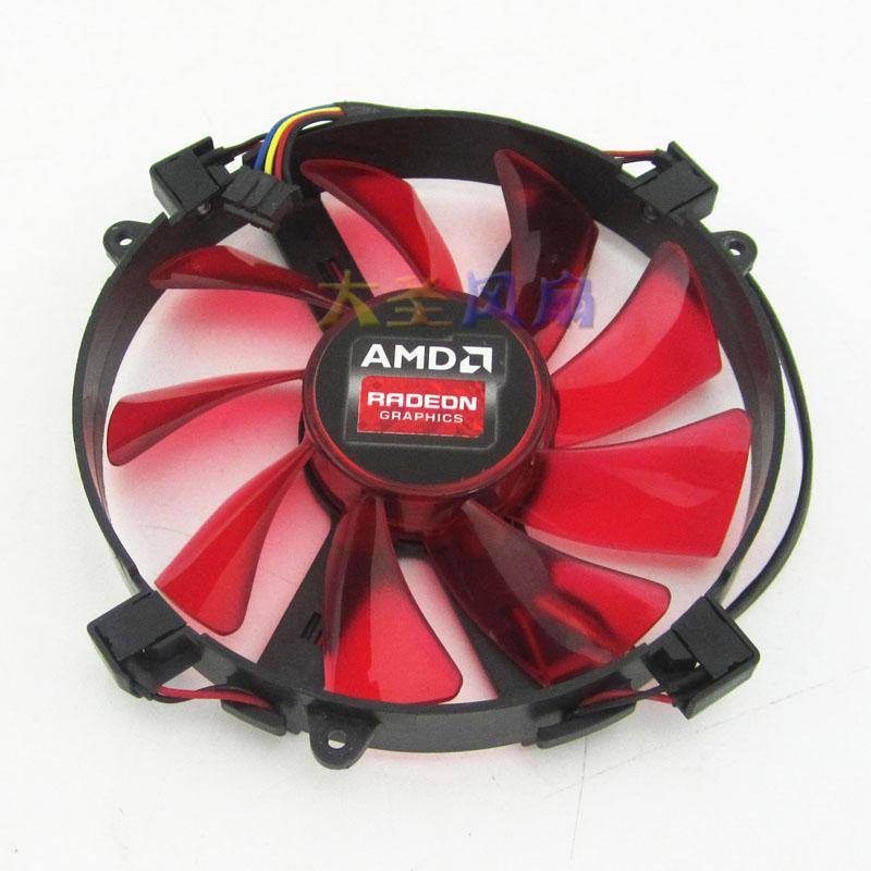 Original AMD R9 295X2 graphics card fan FD9015U12S 0 55A 12V LED LED fans