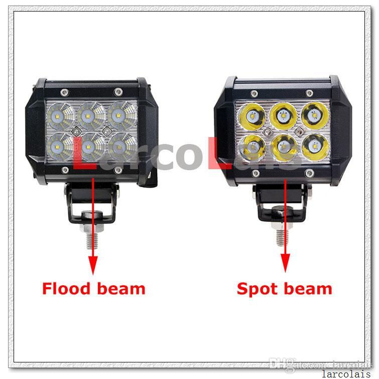 4 zoll 18 Watt Cree LED Arbeitslicht Bar Lampe für Motorrad Traktor Boot Off Road 4WD 4x4 Lkw SUV ATV Spot Flood 12 v
