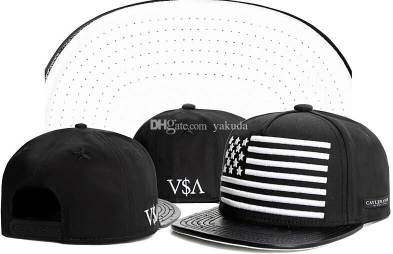 Compre 2015 Para Hombre Cayler Sons Negro Americano EE. UU. Bandera Bandera  Gorras Sombreros 7ef896698b7
